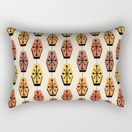 Mid Century Modern Hexagons Autumn Rectangular Pillow