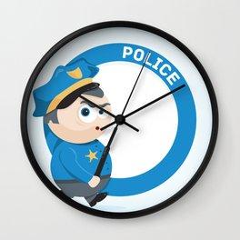 Police Wall Clock