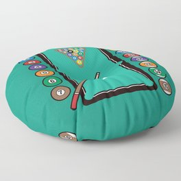 Billiards Table and Equipment Floor Pillow
