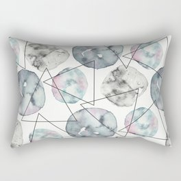 Orbiting Asteroid Pattern Rectangular Pillow