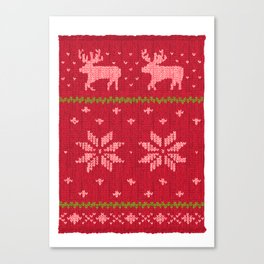 Winter Lovers Christmas Canvas Print