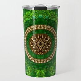 Festive leaf pearls and metal pop art Travel Mug