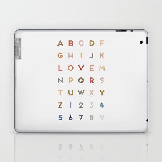 Letter Love - Color Laptop & iPad Skin