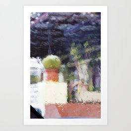 Through the window: Soft colors abstract Art Print