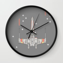 X-wing Vector Iluustration Wall Clock