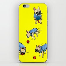 French bulldog playing with a basketball iPhone & iPod Skin