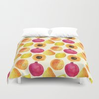 fruits Duvet Covers featuring Fruits by Alexandra Dzh
