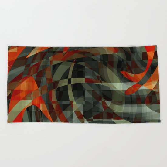 close to the core Beach Towel