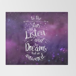 ACOMAF- To the Stars Who Listen And the Dreams that are Answered Throw Blanket