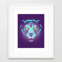 fierce Framed Art Prints featuring Fierce by MaNia Creations