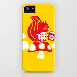 Squirrel teatime iPhone Case