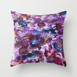 """Spilled Cabernet"" Throw Pillow"
