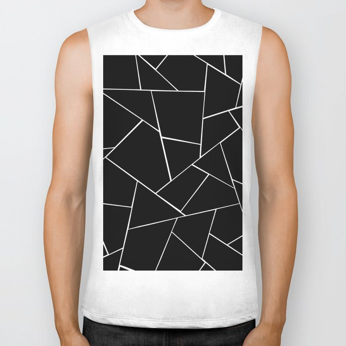Black White Geometric Glam #2 #geo #decor #art #society6 Biker Tank