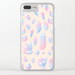 Crystal pattern Clear iPhone Case