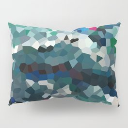 Emerald Sea Green Moon Love Pillow Sham