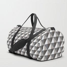 Black & Gray 3D Geometric Diamonds Duffle Bag