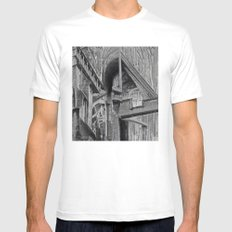 English Gothic (Halftone) MEDIUM White Mens Fitted Tee