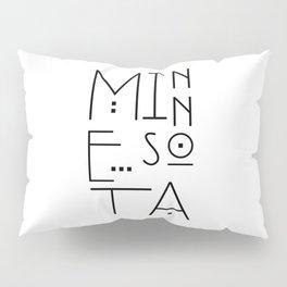 Minnesota Typography Pillow Sham
