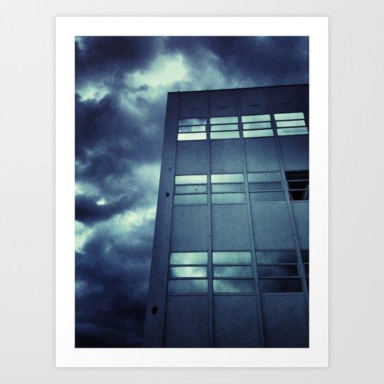 Stormy Windows Art Print