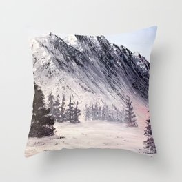 Eastern slope of the Rockies Throw Pillow