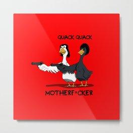 Duck Pulp Fiction Metal Print