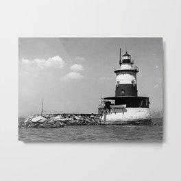 Robbins Reef Lighthouse Metal Print