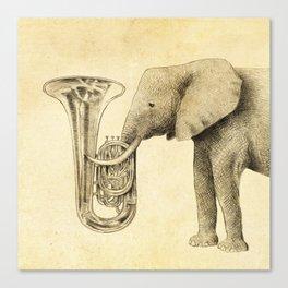 Tuba Canvas Print