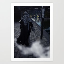 Welcome in Arkham City Art Print