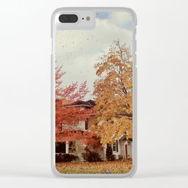 Leaves of Fire Clear iPhone Case