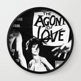 The Agony Of Love Wall Clock