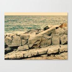 Sea on the rocks Canvas Print