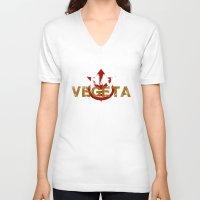 vegeta V-neck T-shirts featuring Team Vegeta by AJF89