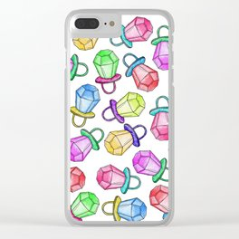 Retro 80's 90's Neon Colorful Ring Candy Pop Clear iPhone Case