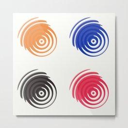 Four circular shapes Metal Print