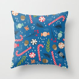 Christmas Candy Throw Pillow