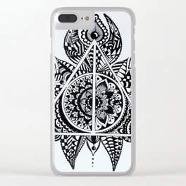Deathly Hallows symbol Clear iPhone Case