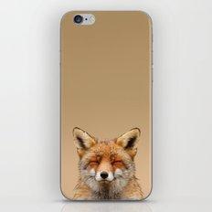 Zen Fox (Red Fox smiling) iPhone & iPod Skin