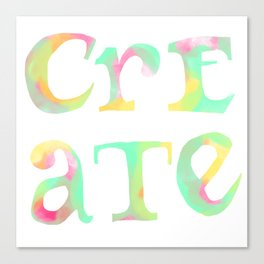 Create Boldly Watercolor Canvas Print