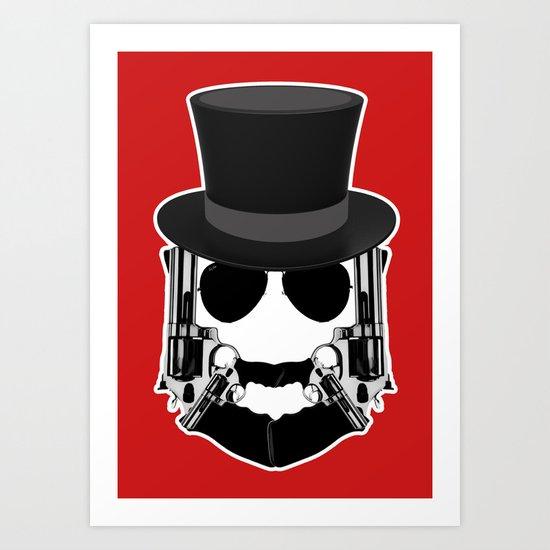 Gun Face Art Print