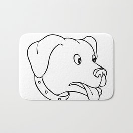 Labrador Retriever Surprised Drawing Bath Mat