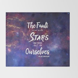 The Fault is not in our Stars, Dear Brutus Throw Blanket