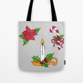 Merry Christmas! (grey) Tote Bag