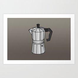 Espresso coffee maker Art Print