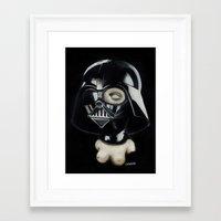 boob Framed Art Prints featuring Boob Vader by Nataliette
