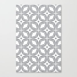 Starburst - Grey Canvas Print