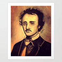 poe Art Prints featuring POE by Kimberly Faye