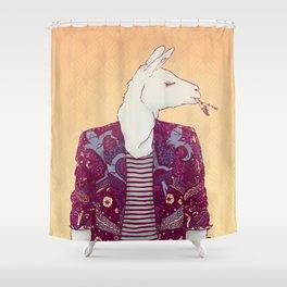 Eddy the Llama Shower Curtain