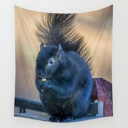 Black Squirrel Wall Tapestry