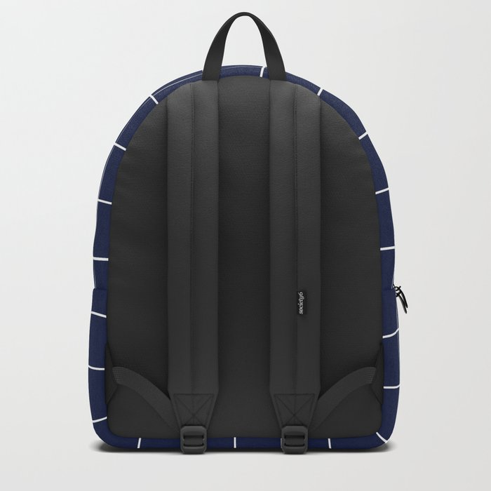 Indigo Navy Blue Grid Backpack