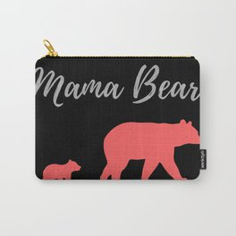 Mama Bear - Black Silver Coral Carry-All Pouch
